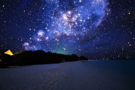 night sky maldives