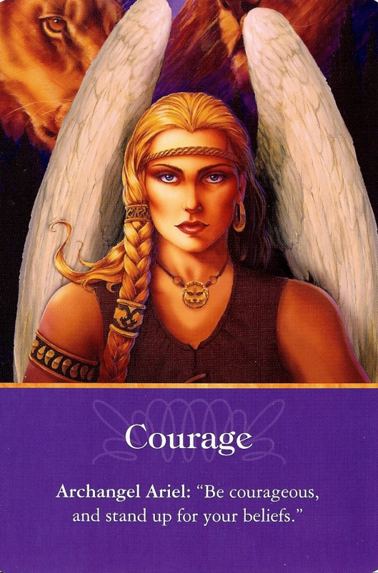"Angel Card for today ~ Archangel Ariel - ""Courage"""