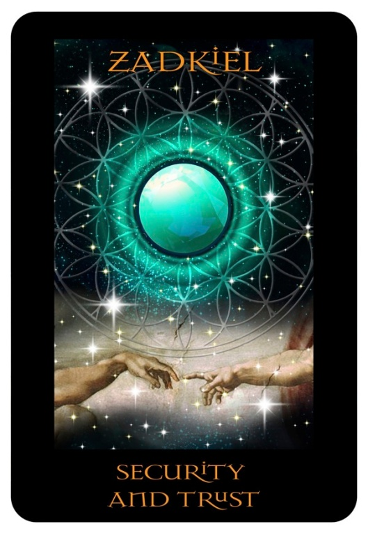 "Angel Card Reading for today - AA Zadkiel ""Security and Trust"""