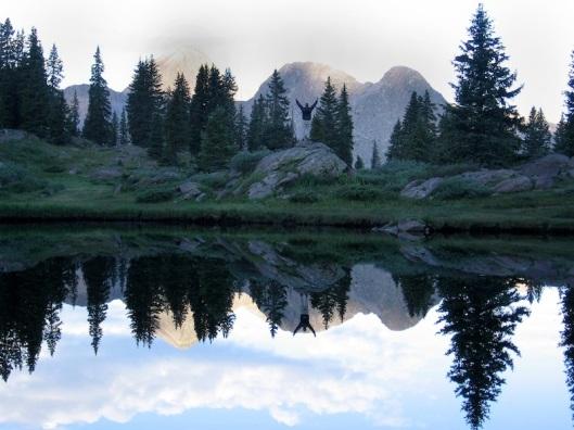 Mountain-river-reflection